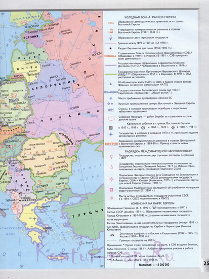 Политическая карта европы в начале 21